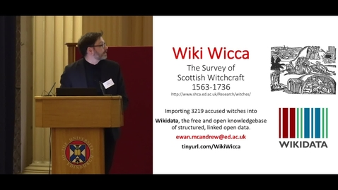 Thumbnail for entry WikiWicca: Teaching data literacy with the Survey of Scottish Witchcraft and enabling Open Science and Open Scholarship with Wikidata - Ewan McAndrew