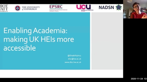 Thumbnail for entry 24th Nov: Enabling Academia: making UK HEIs more accessible