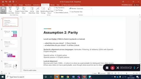 Thumbnail for entry Language Production Lecture 10 Part 30