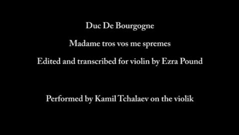 Thumbnail for entry Madame, tros vos me spremes