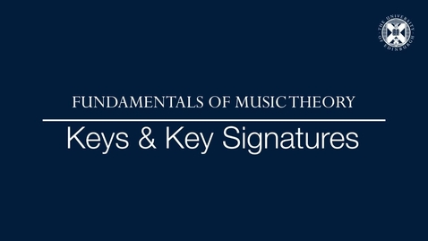 Thumbnail for entry Fundamentals of music theory - Keys and key signatures