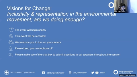 Thumbnail for entry Visions for Change: Inclusivity and representation in the environmental movement; are we doing enough?