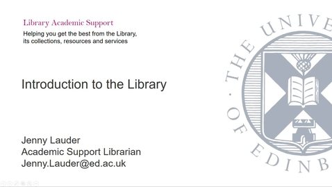 Thumbnail for entry COL - Introduction to the Library for Pre-Sessional Students