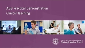 Thumbnail for entry Practical Demonstration performing an ABG