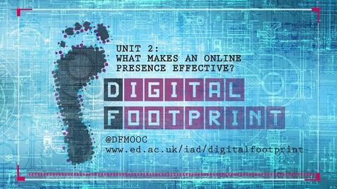Thumbnail for entry Digital Footprint - Intro Week 2