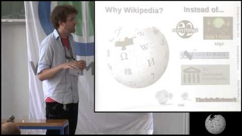 """Thumbnail for entry Wikipedia Academy - """"When Peer Production Succeeds"""", Keynote by Benjamin Mako Hill"""