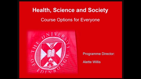 Thumbnail for entry Health in Social Science Option Course Offerings for Course Option Fair 2020-2021