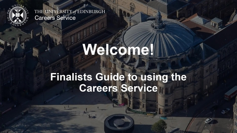 Thumbnail for entry Finalists Guide to the Careers Service