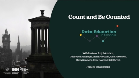Thumbnail for entry Count and be Counted: Exploring census and election data in Scotland