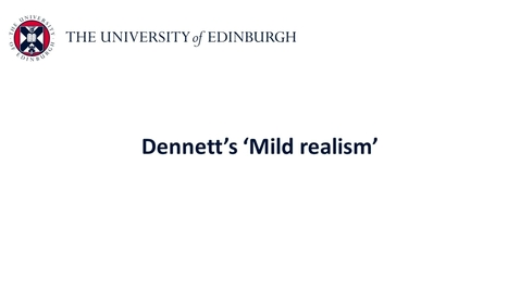 Thumbnail for entry Folk Psychology - Mild realism part i