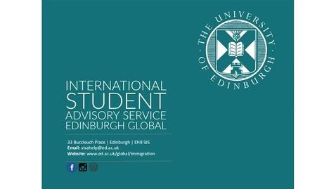 Thumbnail for entry International Student Advisory Service Tier 4 visas