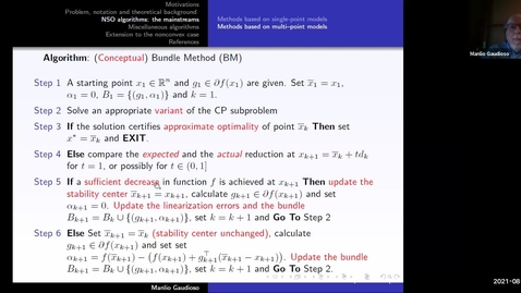 Thumbnail for entry Essentials of numerical nonsmooth optimization Lecture 2 - Manilo Gaudioso