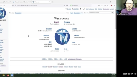 Thumbnail for entry Introduction to Wikisource - Wikipedia's sister project and the free digital hyper library