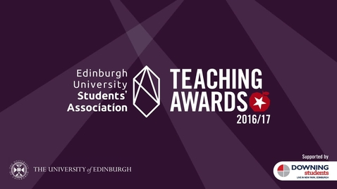 Thumbnail for entry The 2016/17_Teaching_Awards