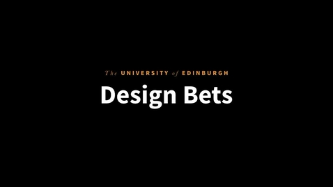 Thumbnail for entry Tobias Ahlin: Making Better Design Predictions with Design Bets