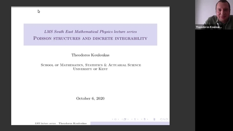 Thumbnail for entry South East Mathematical Physics Seminars: Theodoros Kouloukas (Lecture 1)