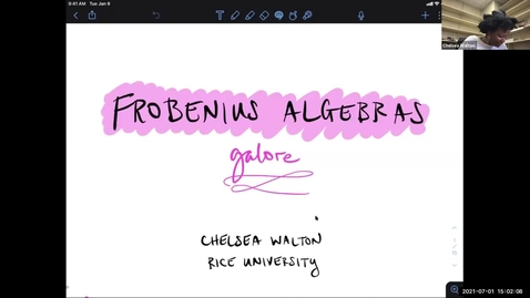 Thumbnail for entry LAGOON: Leicester Algebra and Geometry Open ONline: Chelsea Walton