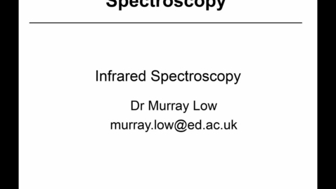 Thumbnail for entry 18 - IR Spectroscopy