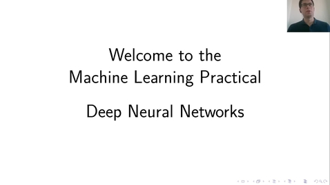 Thumbnail for entry MLP Lecture 01 - Clip 01 - What is Deep Learning?