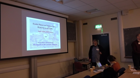 Exotic Hadron Spectroscopy 2017 -  Exotics and their links to astrophysics, Dr. Isaac Vidana Haro (INFN, Catania)