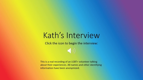 Thumbnail for entry LGBT Healthcare 101 - Kathy's Story