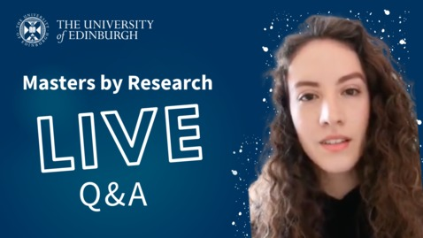 Thumbnail for entry Instagram Live Q&A | MScR Biomedical Sciences