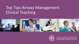 Thumbnail for entry Top Tips Airways Management Final Video