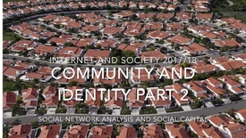 Thumbnail for entry Community and Identity part 2