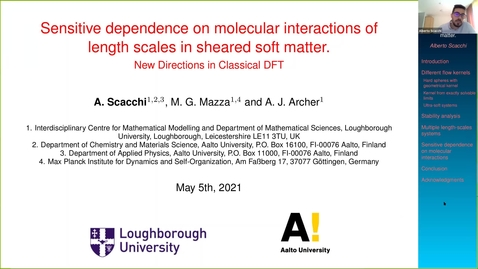 Thumbnail for entry Sensitive dependence on molecular interactions of length scales in sheared soft matter - Alberto Scacchi