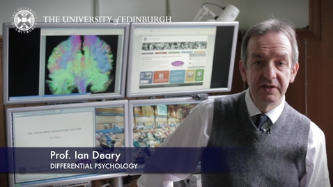 Thumbnail for entry Ian Deary-Differential Psychology-Research In A Nutshell- School of Philosophy, Psychology and Language Sciences-13/03/2013