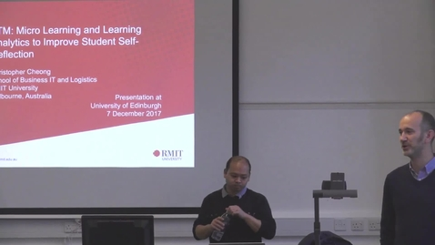 Thumbnail for entry TTM: Micro Learning and Learning Analytics to improve Student Self-Reflection | Christopher Cheong RMIT Uni Melbourne AUS