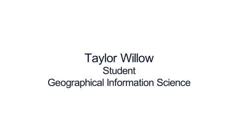 Thumbnail for entry Hear from our students: MSc Geographical Information Science (GIS )