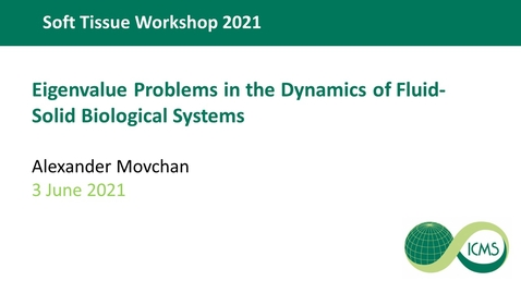 Thumbnail for entry Eigenvalue Problems in the Dynamics of Fluid-Solid Biological Systems - Alexander Movchan