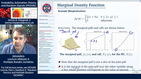 Thumbnail for entry Topic 28: Marginal Distributions and Densities (PETARS, Chapter 5)
