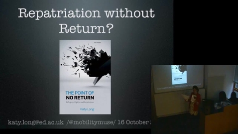 Thumbnail for entry Repatriation Without Return - Katy Long