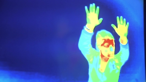 Thumbnail for entry Clip of A woman filmed in infrared