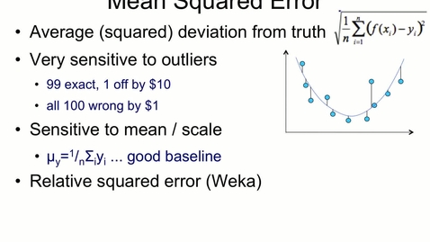 Thumbnail for entry Mean Squared Error and Outliers