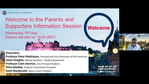 Thumbnail for entry Parents and Supporters Online Information Session 2020
