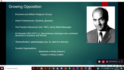 Thumbnail for entry 8B Iranian Revolution part 2
