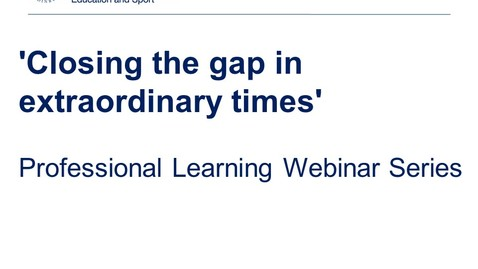 Thumbnail for entry Closing the attainment gap webinar series