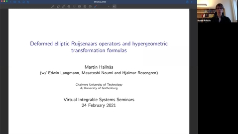 Thumbnail for entry Deformed elliptic Ruijsenaars operators and hypergeometric transformation formulas - Martin Hallnas