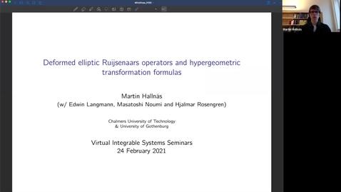 Thumbnail for entry Deformed elliptic Ruijsenaars operators and hypergeometric transformation formulas - Martin Hallnas