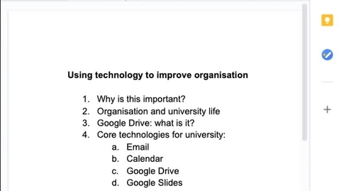 Thumbnail for entry Organising your studies with Google Drive