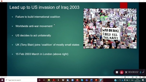 Thumbnail for entry 9A 9.11 and the Invasion of Iraq part 2