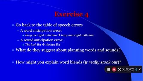 Thumbnail for entry Language Production Lecture 2 Part 5