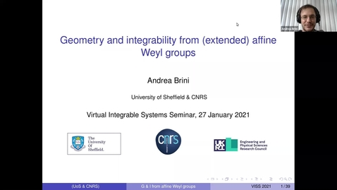 Thumbnail for entry Geometry and integrability from affine Weyl groups -  Andrea Brini