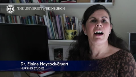Thumbnail for entry Elaine Haycock Stuart -Nursing Studies - Research In A Nutshell- School of Health in Social Science-01/04/2014