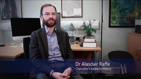 Thumbnail for entry Dr Alasdair Raffe - Religion, Politics and Ideas in 18th and 17th Century Scotland - Research In a Nutshell