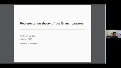 Thumbnail for entry 14 July Andrew Snowden The representation theory of Brauer categories