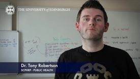 Thumbnail for entry Tony Robertson -Centre for Population Health Sciences-Research In A Nutshell- MRC Institute of Genetic and Molecular Medicine-01/04/2014
